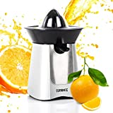 Duronic (Renewed) JE6SR Silver 100W Powerful Citrus Press Juicer/Juice Squeezer Extractor with Drip Free Spout