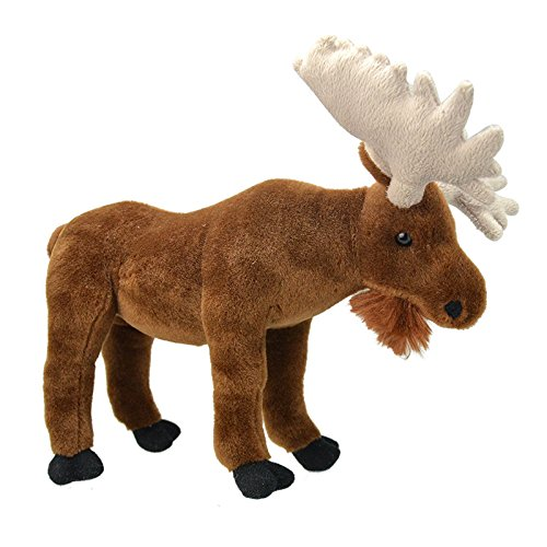Wild Planet All About Nature-30 cm Alce-Haté à Main, Peluche réaliste, Multicolore (K8259