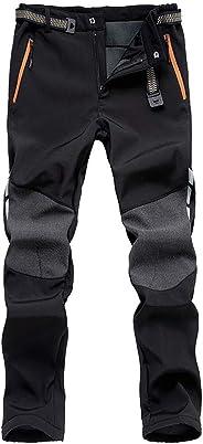 DEKINMAX Pantaloni Invernali Uomo Pantaloni Caldi Impermeabili Pantaloni Termici per Sci Trekking Alpinismo Esterno Sport