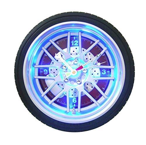 NZYDHK Neuankömmlinge kreative Led Digital Automotive Reifen Wanduhr exotische personalisierte LED-Licht wachsende Uhr Auto Bar Dekor Uhr 27 cm rot