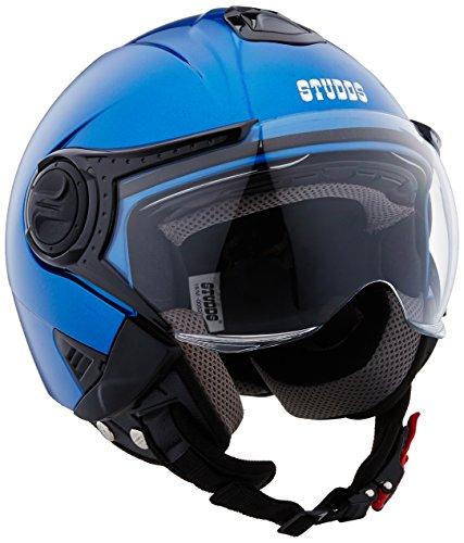 Studds Downtown Half Helmet (Flame Blue, XL)