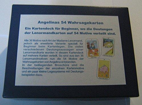 (Angelinas 54 Wahrsagekarten: Ein Kartendeck für Beginner, wo die Deutungen der Lenormandkarten auf 54 Motive verteilt sind)