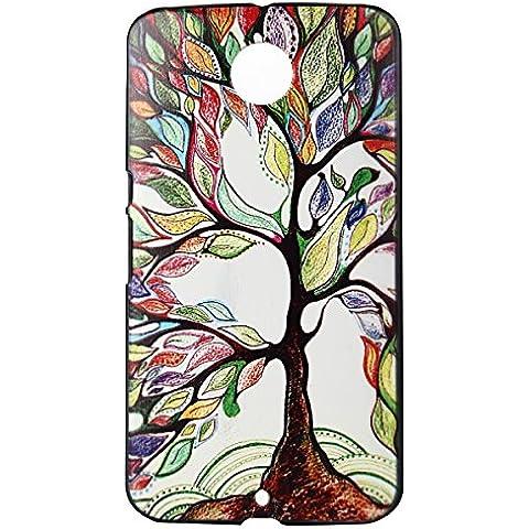 Voguecase® Para Google Nexus 6, Funda Carcasa Duro Tapa Case Cover (Gran árbol de color) + Gratis aguja de la pantalla stylus universales