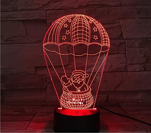 3D Led Heißluft Ballon Santa 7 Farbe Licht Note Urlaub Party Dekoration Kinder Geschenke