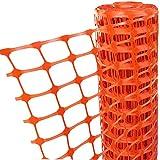 Kunststoff-Sicherheitszaun, 50 m x 1 m (L x H), Orange