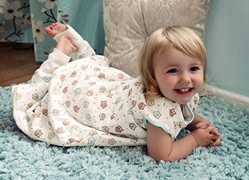 Saco de Dormir con Pies de Invierno Slumbersac para Bebé aprox.3.5 Tog – Búho – 18-24 meses
