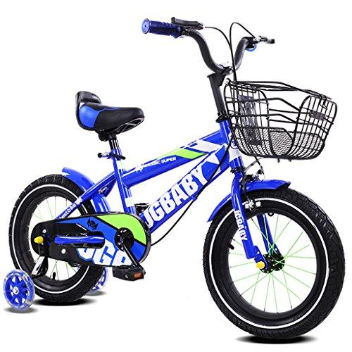 Royal Blue Walker (LXYFMS Kinderfahrrad 2-4/3-5/4-7 Baby Babytrage 12/14/16 Zoll Kinderfahrrad Alloy Paint Frame, Königsblau/Lila/Rosenrot/Himmelblau Kinderfahrrad (Color : 16