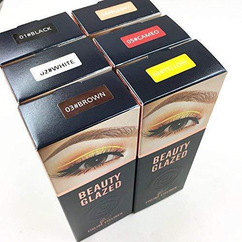 6pcs/set Beauty Glazed Eyeliner Gel Crème Avec La Brosse de Maquillage Cosmétique Waterproof Imperméable Eye Liner Brosse Kit