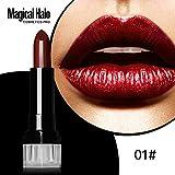Lipgloss,Rabatt,PorLous 2019 Beliebt Magic Halo Lipstick Frosted Feuchtigkeitsspendender Lippenstift Wasserfeste Lipgloss Kosmetik Feuchtigkeitsspendend 1