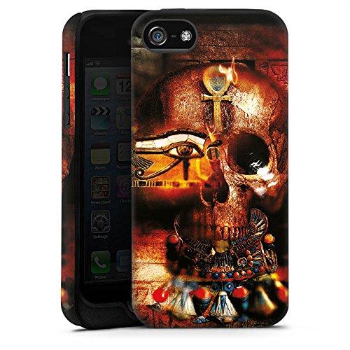Apple iPhone X Silikon Hülle Case Schutzhülle Totenkopf Ägypten Symbol Tough Case matt