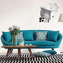 QotoneRonda de acrílico espejo de fondo pared pegatina decoración del dormitorio pegatinas de pared 60 * 45 cm