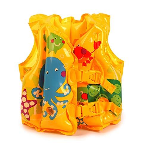 ZJSY Schwimmweste - Aufblasbare Schwimmweste mit Schwimmring für Kinder, 2-5 Jahre alt -