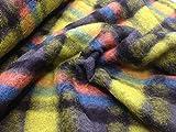Hilco – Wolle Strickstoff Meterware zum Nähen I Bedruckte Schottenkaro Walkstoff I Kleiderstoff Oeko-Tex Zertifiziert I Nähstoff für Winterbekleidung I 140 cm breit