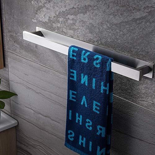 ZUNTO Handtuchhalter Ohne Bohren Handtuchstange Edelstahl Selbstklebend Badetuchhalter 40 cm für Badezimmer