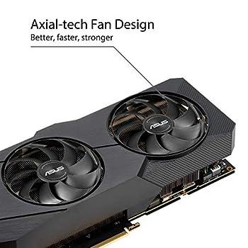 ASUS Dual GeForce RTX 2070 SUPER EVO OC Edition 8 GB GDDR6, Scheda Video Gaming, Ventole AxialTech e Dissipatore Biventola per Videogiochi AAA e VR