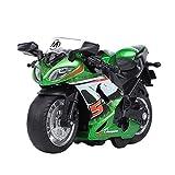 Modèle de Voiture à Inertie pour Enfants,Sisit Mini Motocross Les Enfants Jouet Enfant avec Lumières Et Musique Modèle De Motocross (Vert)