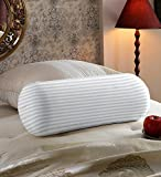 #3: Hotel Quality Satin Stripes Bed Bolster Pillow Set of 2 Pcs (23