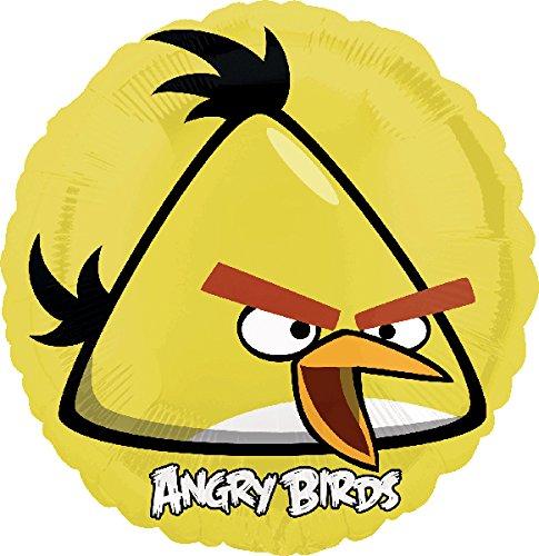 Angry Birds Folienballon gelber Vogel, unbefüllt (Gelbe Angry Bird Kostüme)