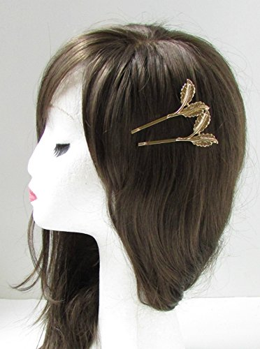 2 x Feuille d'Or cheveux clips Bobby broches mariée vintage Combe International Grecian Olive romain Boho L35 * * * * * * * * exclusivement vendu par – Beauté * * * * * * * *