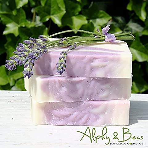 1 x 100gr. Natural Handmade Soap - Organic Lavender - With Cocoa Butter & Shea Butter