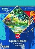 Aquarell-Block A4 180g 24Blatt Stylex