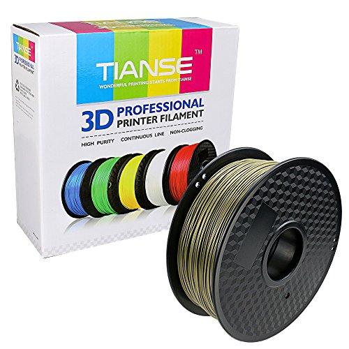 Tianse bronzo filamento pla per stampanti 3d, 1,75 mm, precisione dimensionale +/- 0,03 mm (2,2 lbs.)