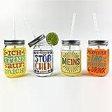 Sticky Jam Trinkgläser Windfest & Stilsicher 4er Set