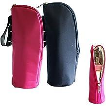 iSuperb 2 pezzi Biberon Borse di tela di cura Bottiglia del dispositivo di raffreddamento Warmer isolato sacchetto per il viaggio Passeggino 3.1x3.1 x 9,5 pollici