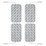 Set de 4 électrodes contre la cellulite et la peau d'orange - connexion à fil 2 mm - pour électrostimulateurs TENS et EMS