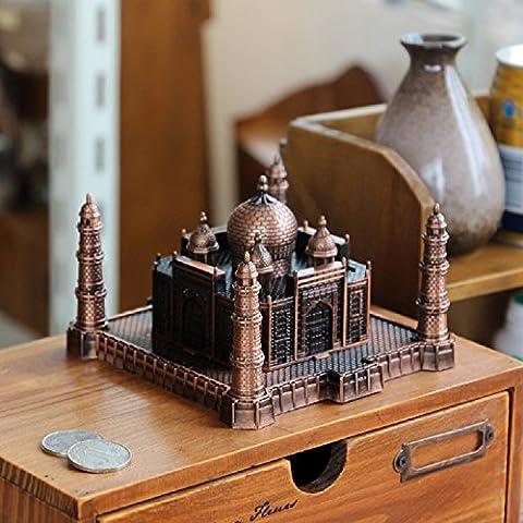 XJoel 3D Metal Modelo Kits Taj Mahal India Recuerdo Collectible Artesanía Taj Mahal Taj Mahal Réplica Bronce