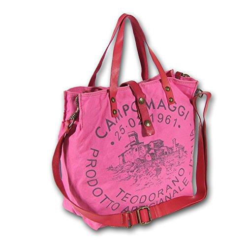 Campomaggi C1389 TEVL Sac porté épaule pour femme 30 x 15 x 33 cm Rose, fuchsia
