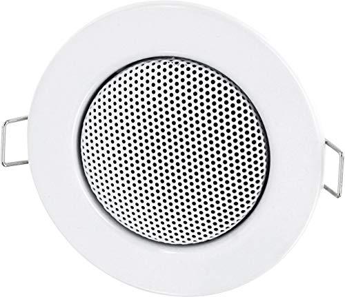 Einbau Lautsprecher Vollmetall 3W - Einbau Ø 60mm - Klemm Montage - Halogen-Design - weiß