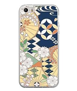 PrintVisa Designer Back Case Cover for Apple iPhone 4 (Incredible Blue orange white shades)