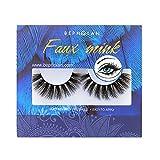 Bepholan Faux Eyelash 3D Mink Eyelashes Strip False Eyelashes Beauty Pack Reusable Invisible