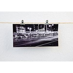 Postkarte XXL Panorama NewYork Fotografie Macy Street Nacht