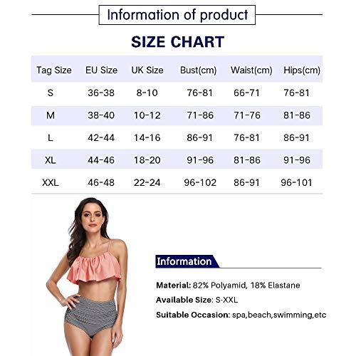Summer Mae Damen Bikini-Set mit Volant Vintage Badeanzug - 4
