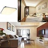 SAILUN 24W Warmweiß LED Modern Deckenleuchte Deckenlampe Flur Wohnzimmer Lampe Schlafzimmer Küche Energie Sparen Licht Silber Test