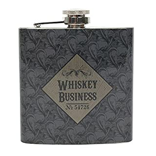 Attitude Clothing Whiskey Business Hip Flask