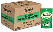 Temptations Cat Treat, Seafood Medley Flavour - 12 X 85 g