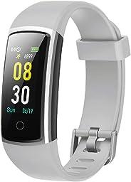 YAMAY Smartwatch Orologio Fitness Tracker Uomo Donna Pressione Sanguigna Smart Watch Cardiofrequenzimetro da Polso Contapassi