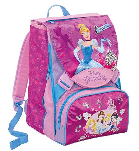 Zaino scuola estensibile  disness princess , dreamy dress , rosa -28 lt , cambia vestito + gadget incluso!
