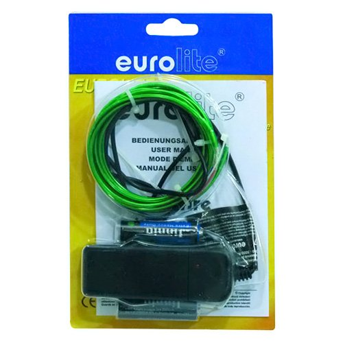 EUROLITE 2M NEON EL 2MM CABLE  VERDE