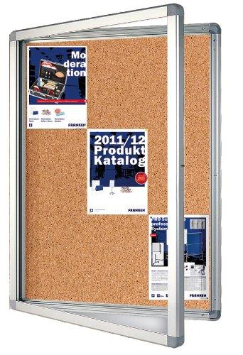 Preisvergleich Produktbild Franken SK9KE Schaukasten (9 x DIN A4 Kork, Format 75 x 101.1 x 4.5 cm) braun