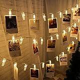 Stringa luci LED stringa luci scheda clip titolare per le immagini favola ghirlanda lampada per Natale Natale vacanza lampada di Capodanno decorazione vacanza
