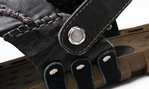 W&XY Estate Uomo sandali pelle doppio uso il giro Spiaggia di sabbia pantofole antiscivolo 41