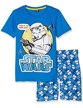 Star Wars-The Clone Wars Darth Vader Jedi Yoda Chicos Pijama mangas cortas - Azul