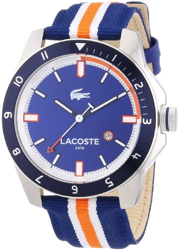 Lacoste Mens Quartz Watch, Analogue Classic Display and Nylon Strap 2010700