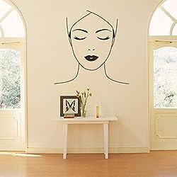 ALLDOLWEGE Die Wand Kunst Wand Dekor mit Beauty Salon Beauty Therapie Gesicht tv-wand Dekoration Aufkleber entfernt werden kann