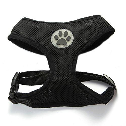 BbearT® Hundegeschirr, atmungsaktiver Netzstoff, weich, für Hund/Welpe, verstellbar (Yorkshire Welpen)
