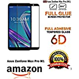 JGDWORLD 6D (Next gen. of 5D) Temperesd Glass for Asus Zenfone Max Pro M1 (2018) (Pack of 1, 6D Black)